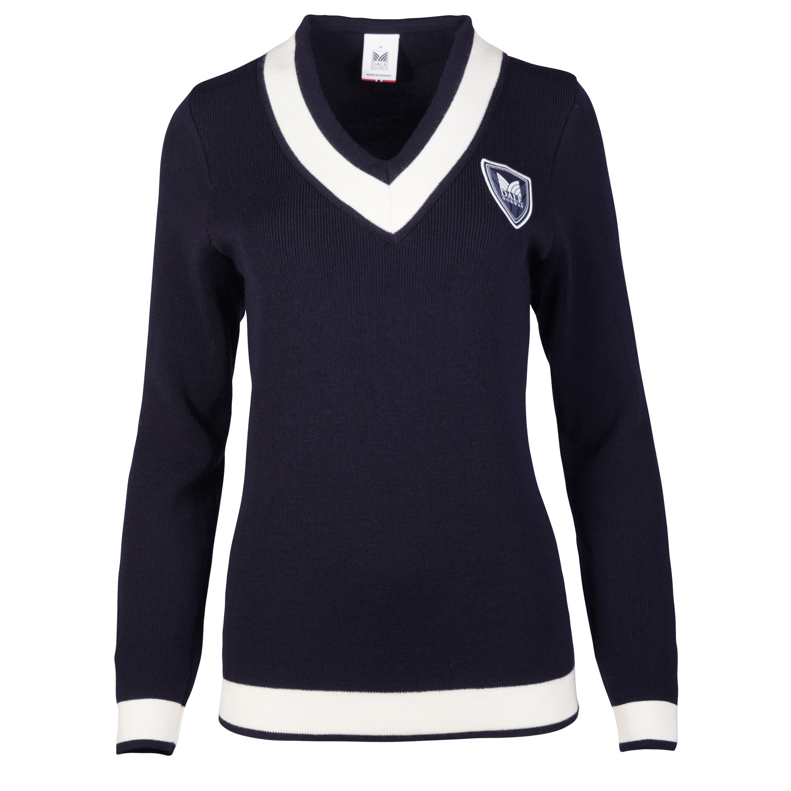 Dale of Norway Morgedal Sweater, Womens - Navy/Off White, 94021-C