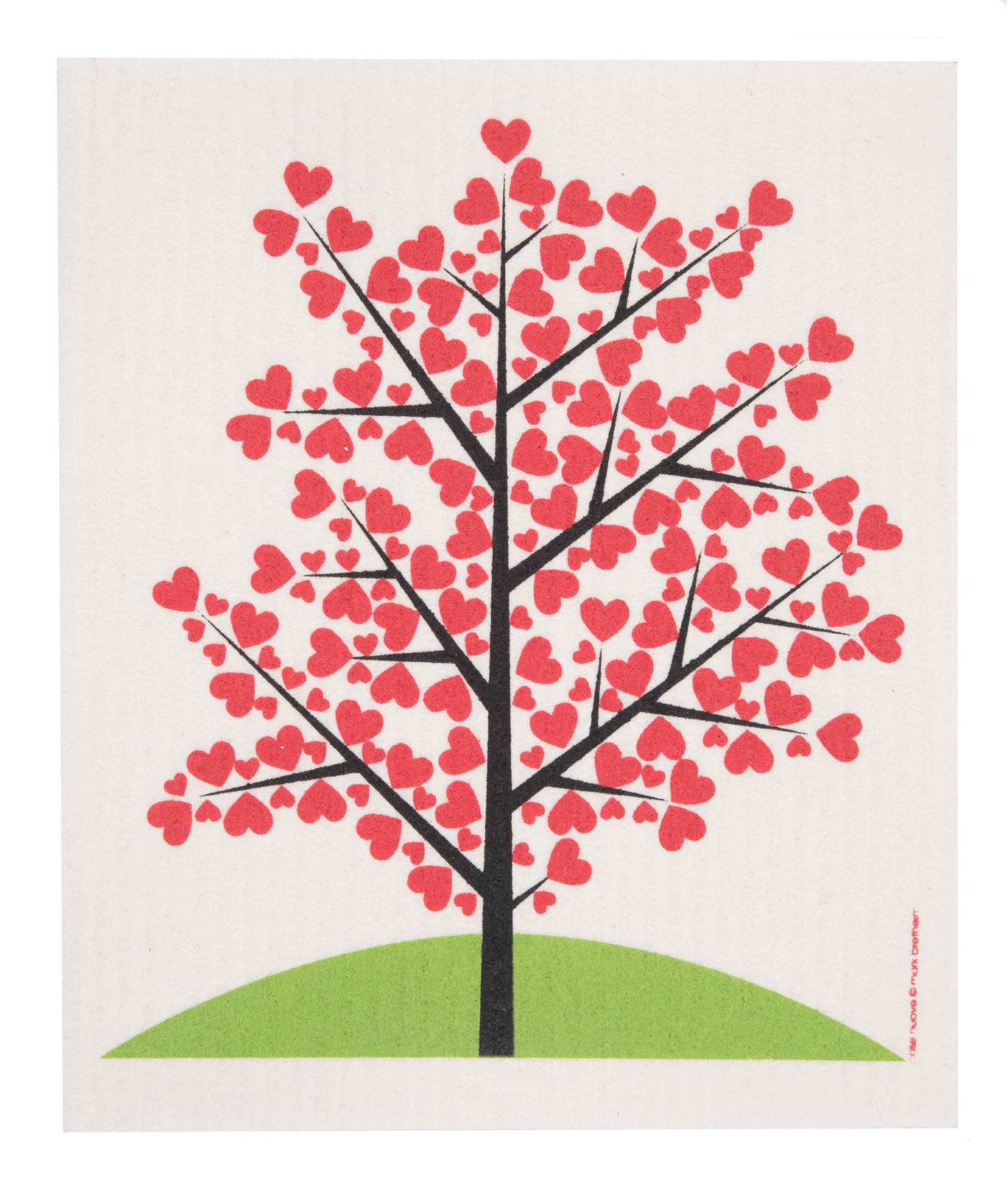 Swedish Dishcloth - Tree of Hearts (1055-0221-0400)