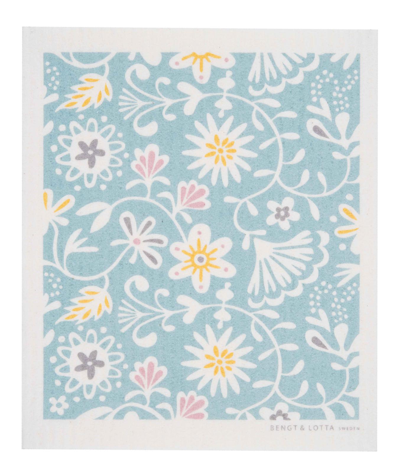 Swedish Christmas Dishcloth - Floral