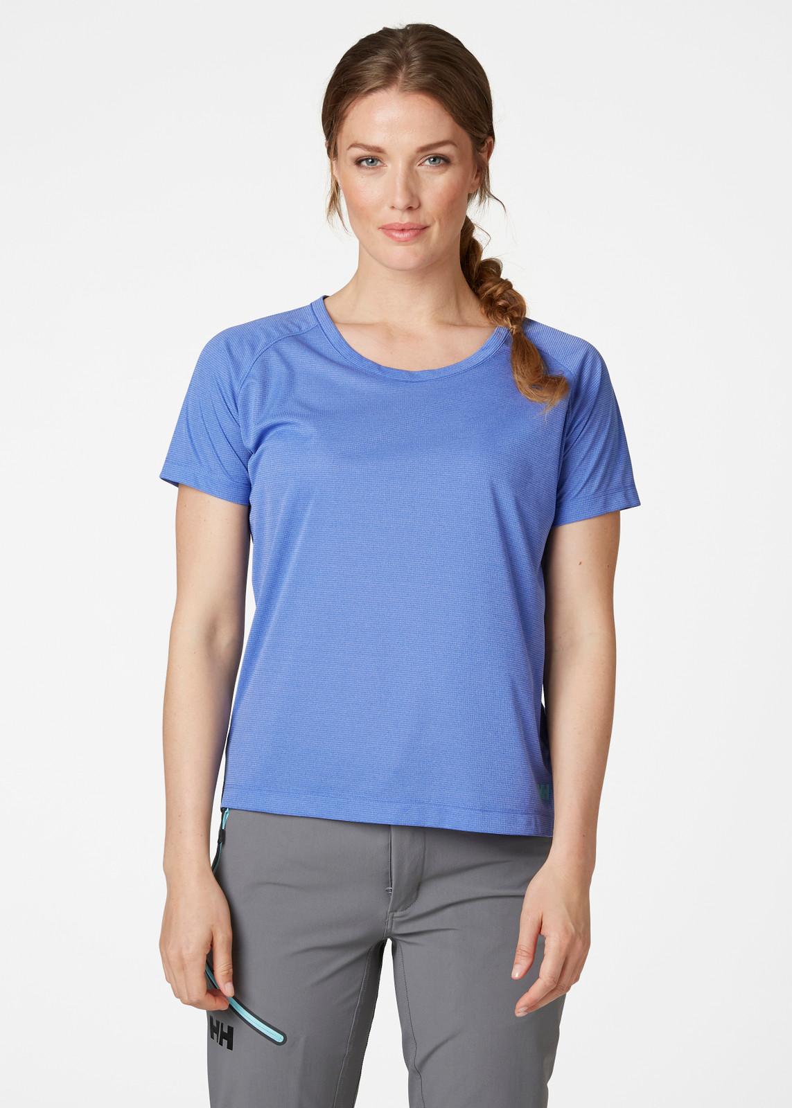 Helly Hansen Verglas Pace T-Shirt, Women's - Royal Blue, 62967-514 on model