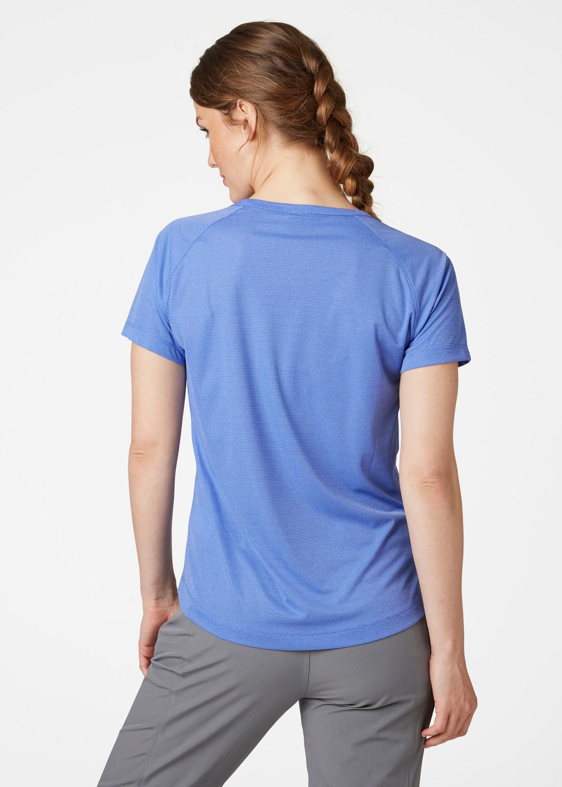 Helly Hansen Verglas Pace T-Shirt, Women's - Royal Blue, 62967-514 back - on model