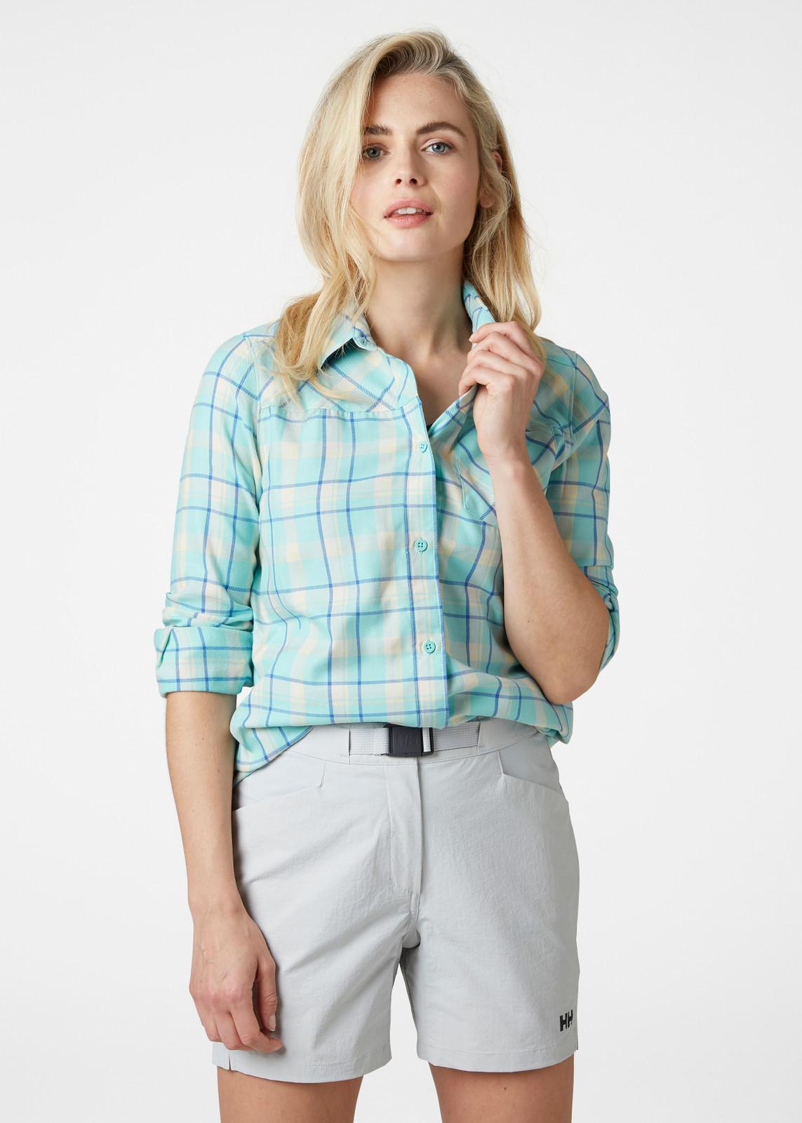 Helly Hansen Lokka LS Shirt, Women's - Glacier Blue, 62875-648 on model