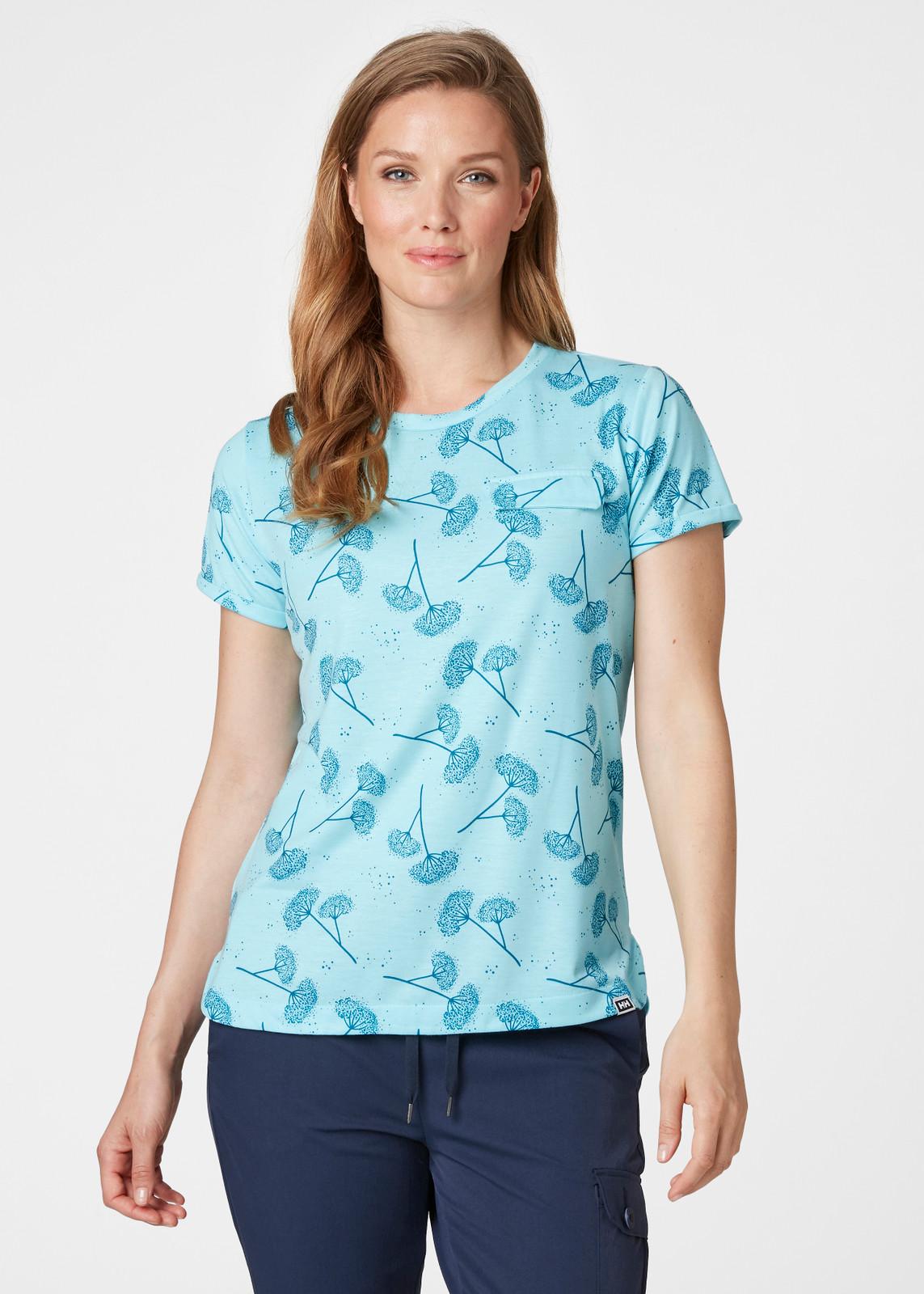 Helly Hansen Lomma T-Shirt, Women's - Glacier Blue, 62878-648 on model