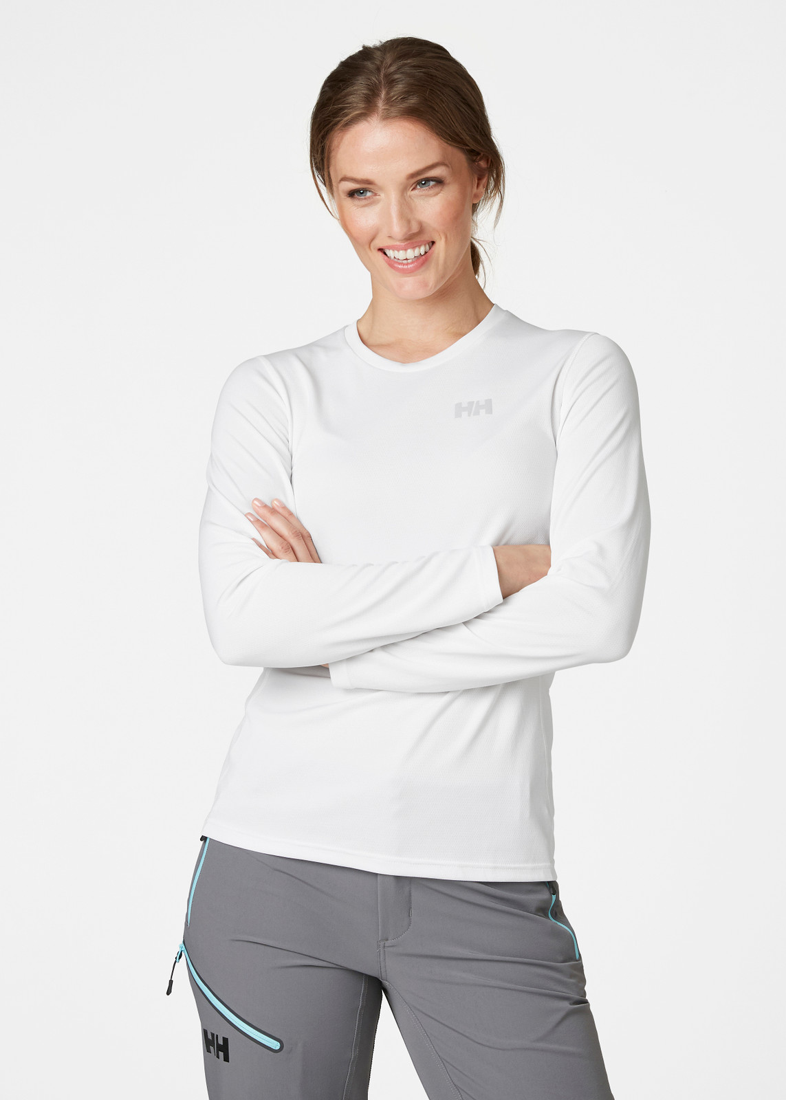 Helly Hansen Lifa Active Solen LS T-Shirt, Women's - White, 49352-001 on model