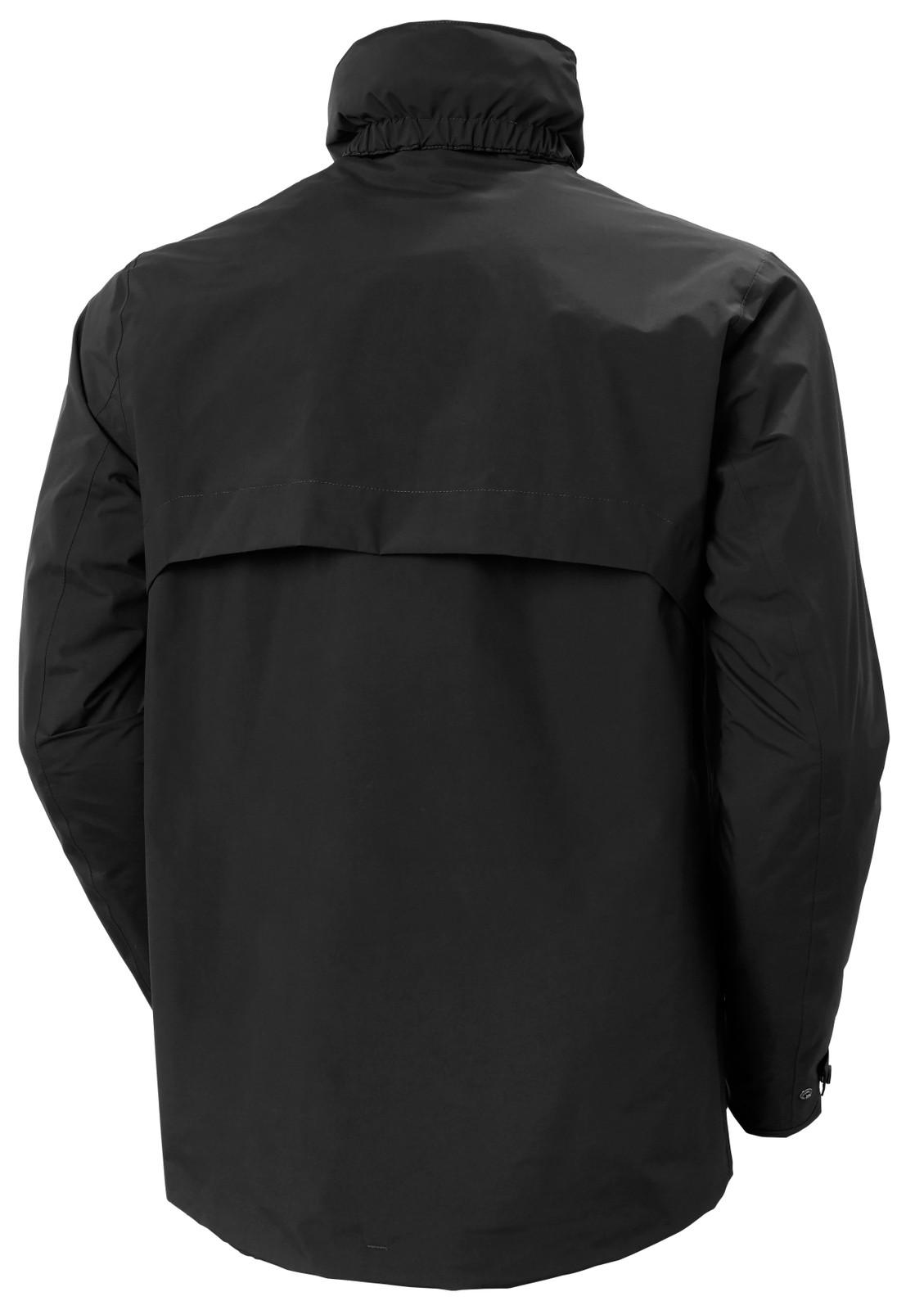 Helly Hansen Utility Rain Jacket, Men's - Black, 53415-990 back