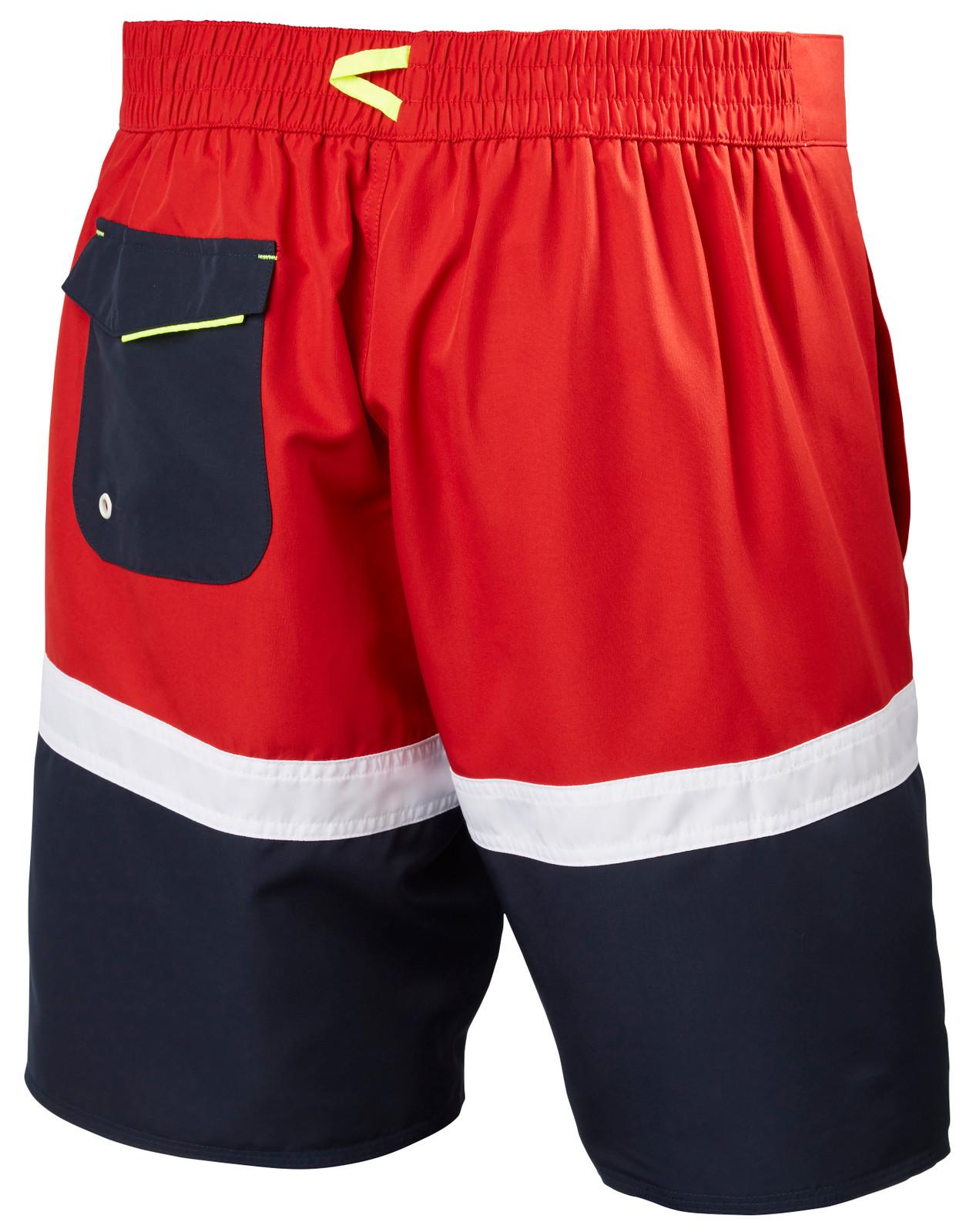 Helly Hansen Marstrand Trunk, Men's - Red/White/Navy, 33982-162 back