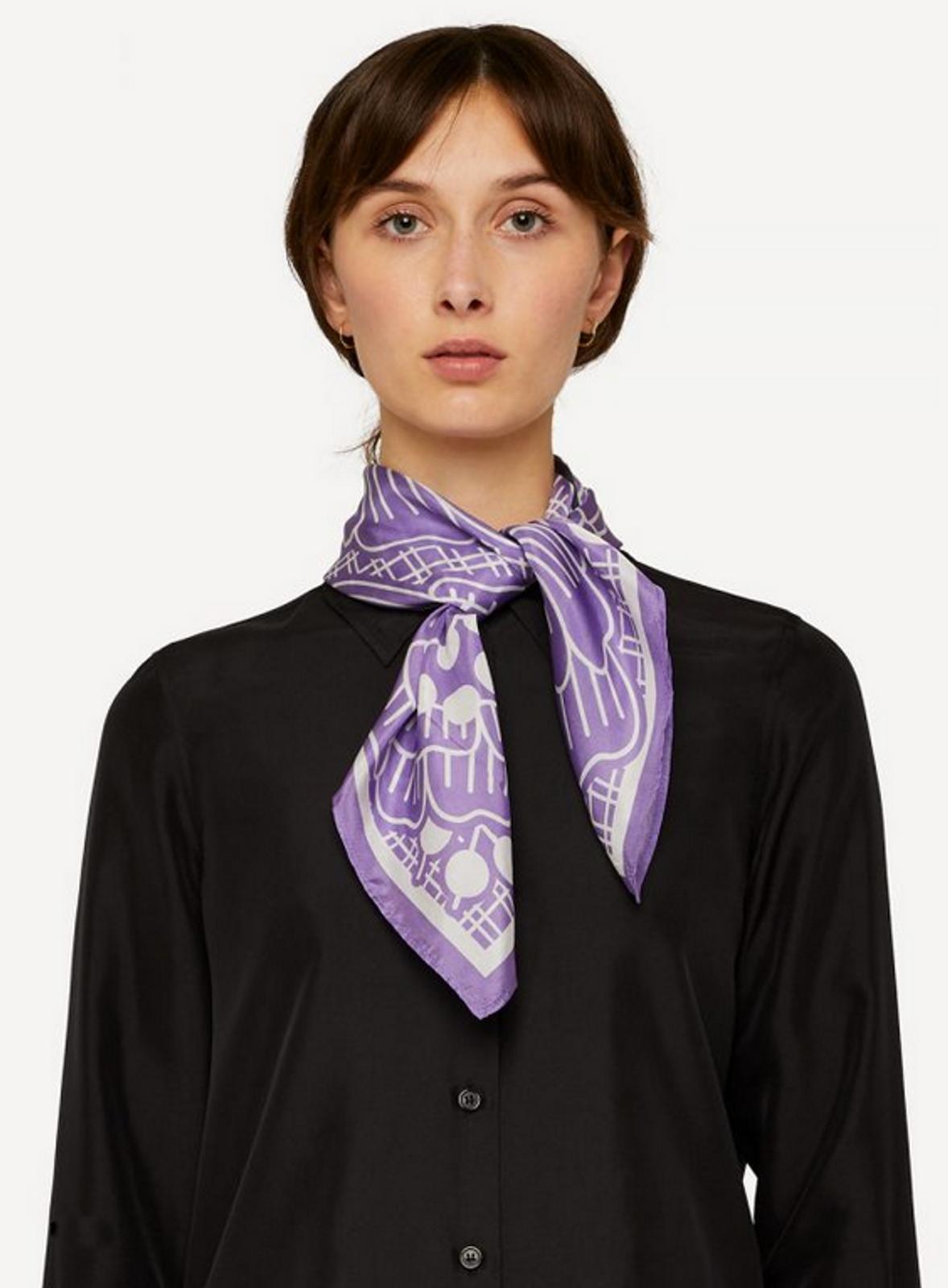 Oleana Romantic and Square Scarf, 519-C Soft Lavender
