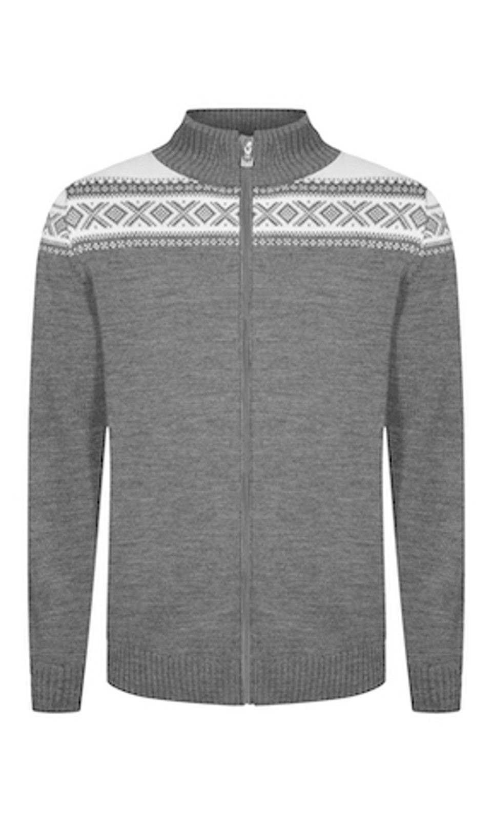 Dale of Norway Cortina Merino Cardigan, Men's - Smoke/Off-White, 83321-E
