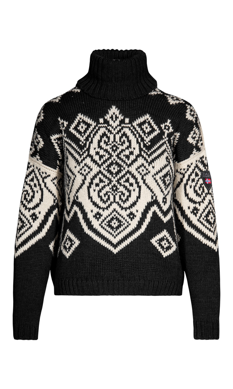 Dale of Norway Falun Sweater, Ladies - Black/Off White, 94041-F (94041-F)