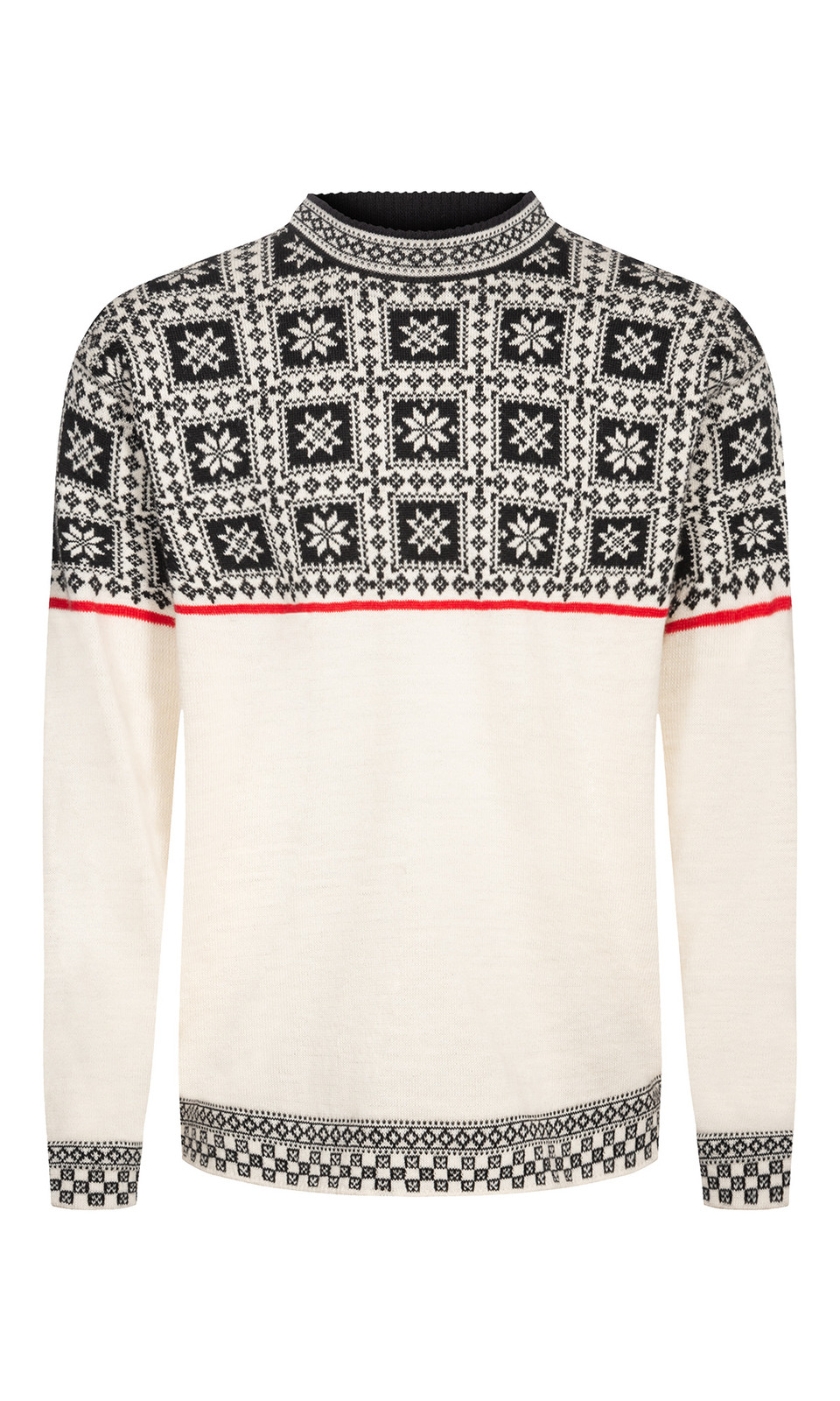 Dale of Norway Tyssøy Sweater, Mens- Off White/Black/Raspberry, 94411-A (94411-A)