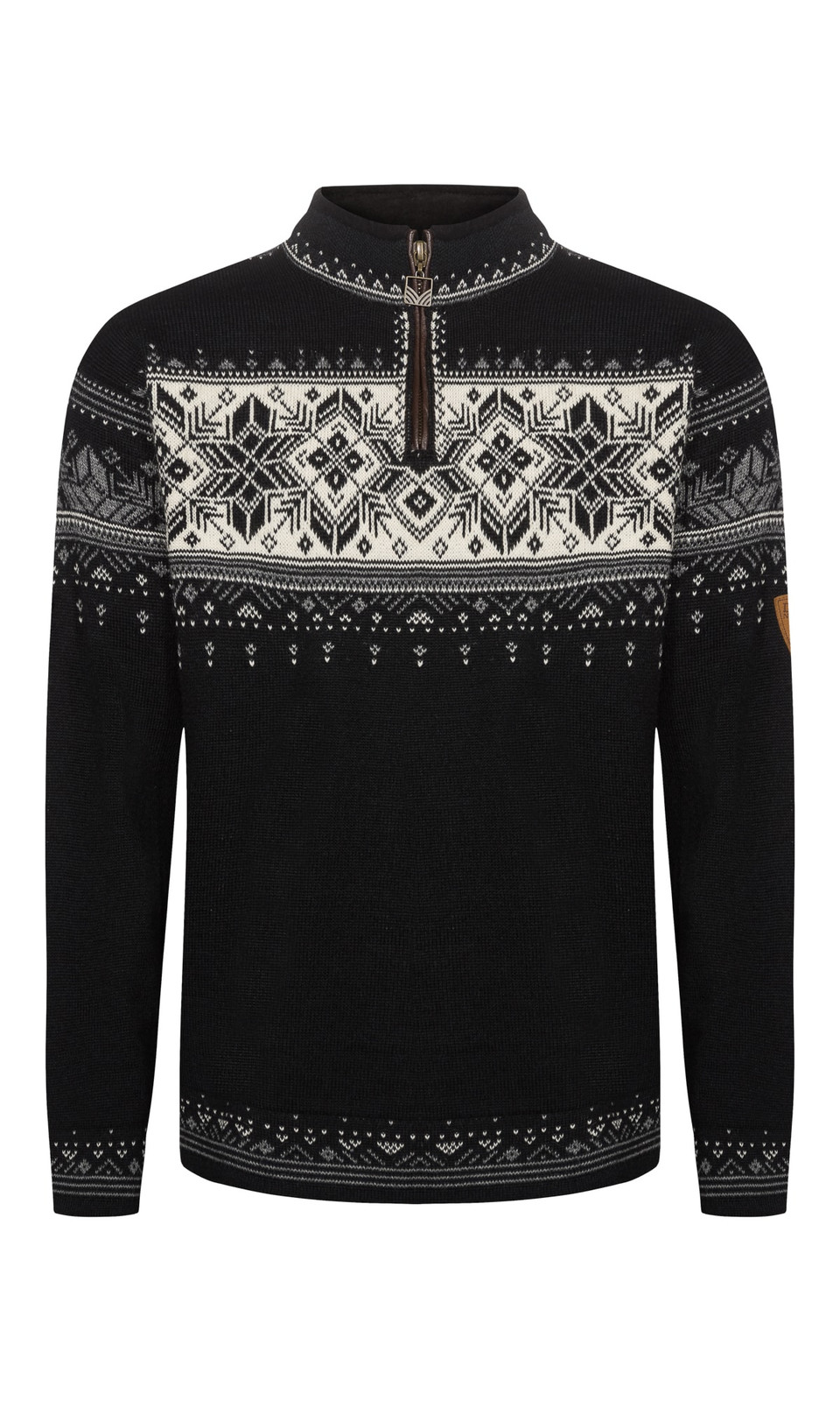Dale of Norway Blyfjell Sweater - Black/Smoke/Off White/Light Charcoal, 91291-K