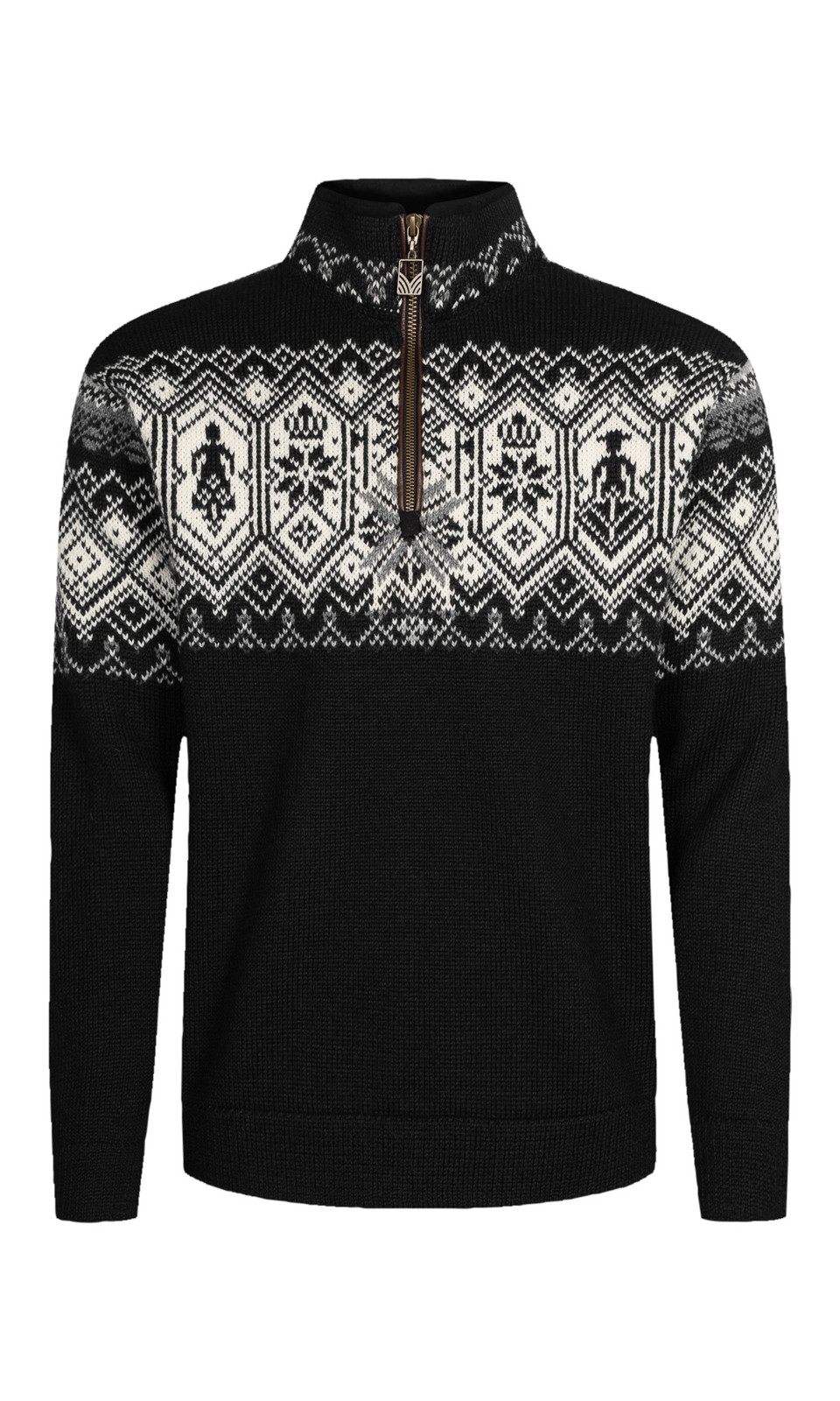 Dale of Norway Norge Sweater, Mens - Black/Charcoal Multi/Off White, 93731-F (93731-F)