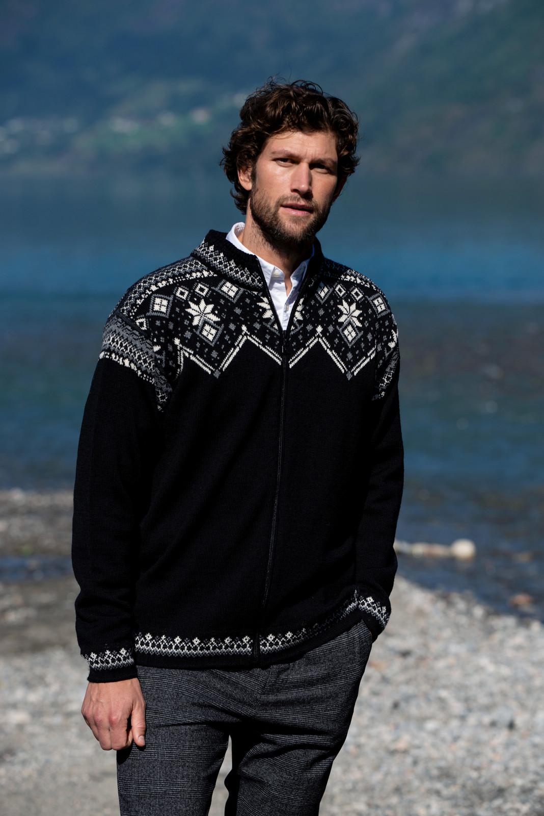 Dale of Norway Brimse Cardigan, Mens - Black/Smoke/Off White/Dark Charcoal , 83671-F (83671-F)