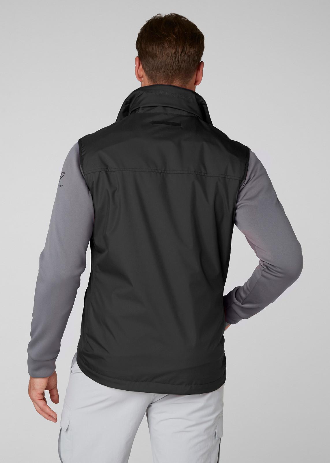 Helly Hansen Crew Vest, Men's - Black, 30270-990 (30270-990) on model back