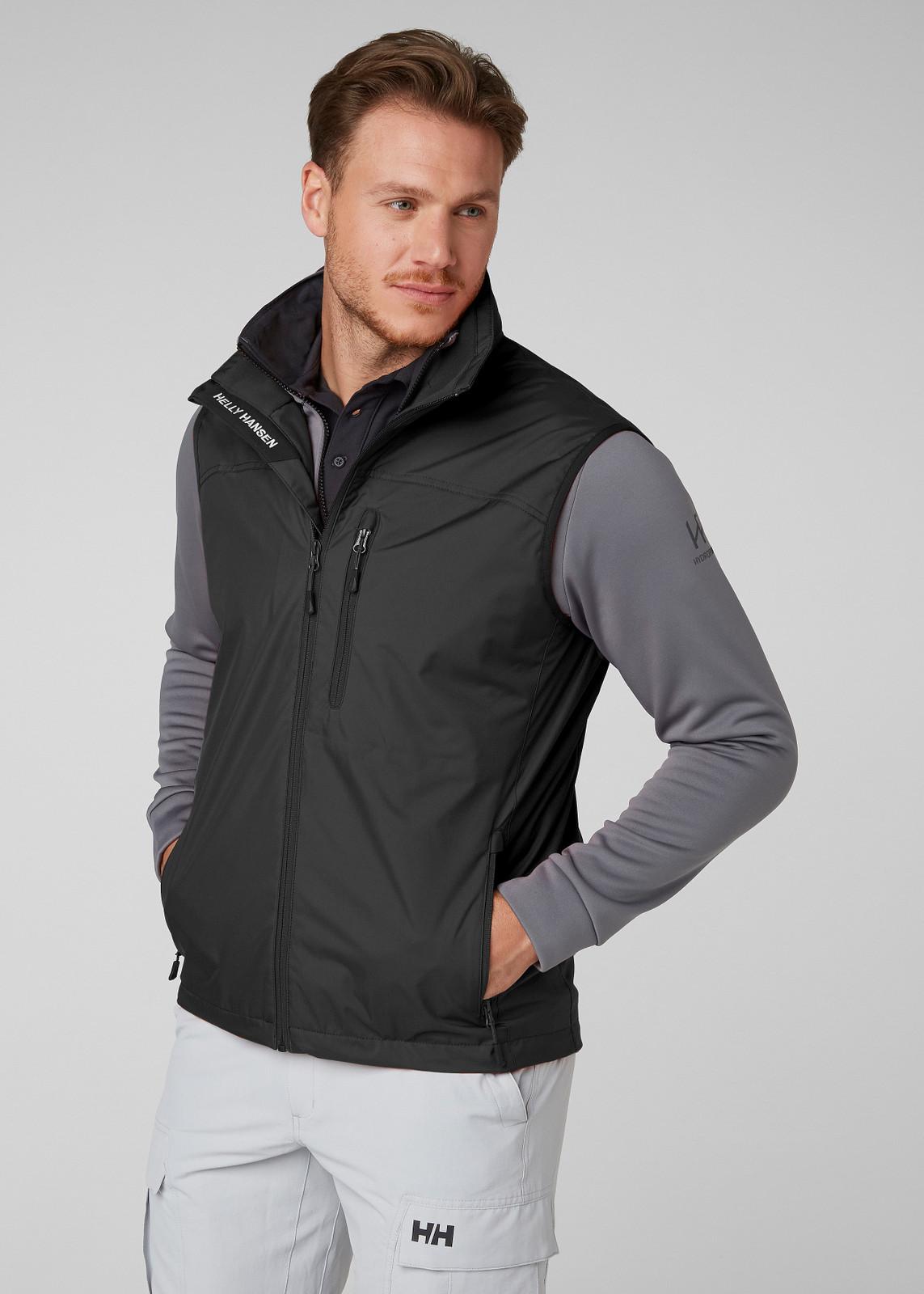 Helly Hansen Crew Vest, Men's - Black, 30270-990 (30270-990) on model