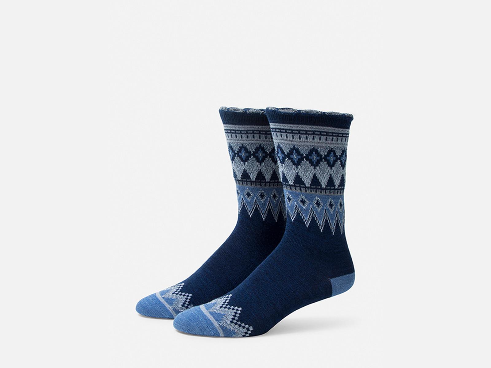 B.ELLA Everleigh Sparkle Fairisle Socks, Ladies' One Size - Navy (BE0325-02030)
