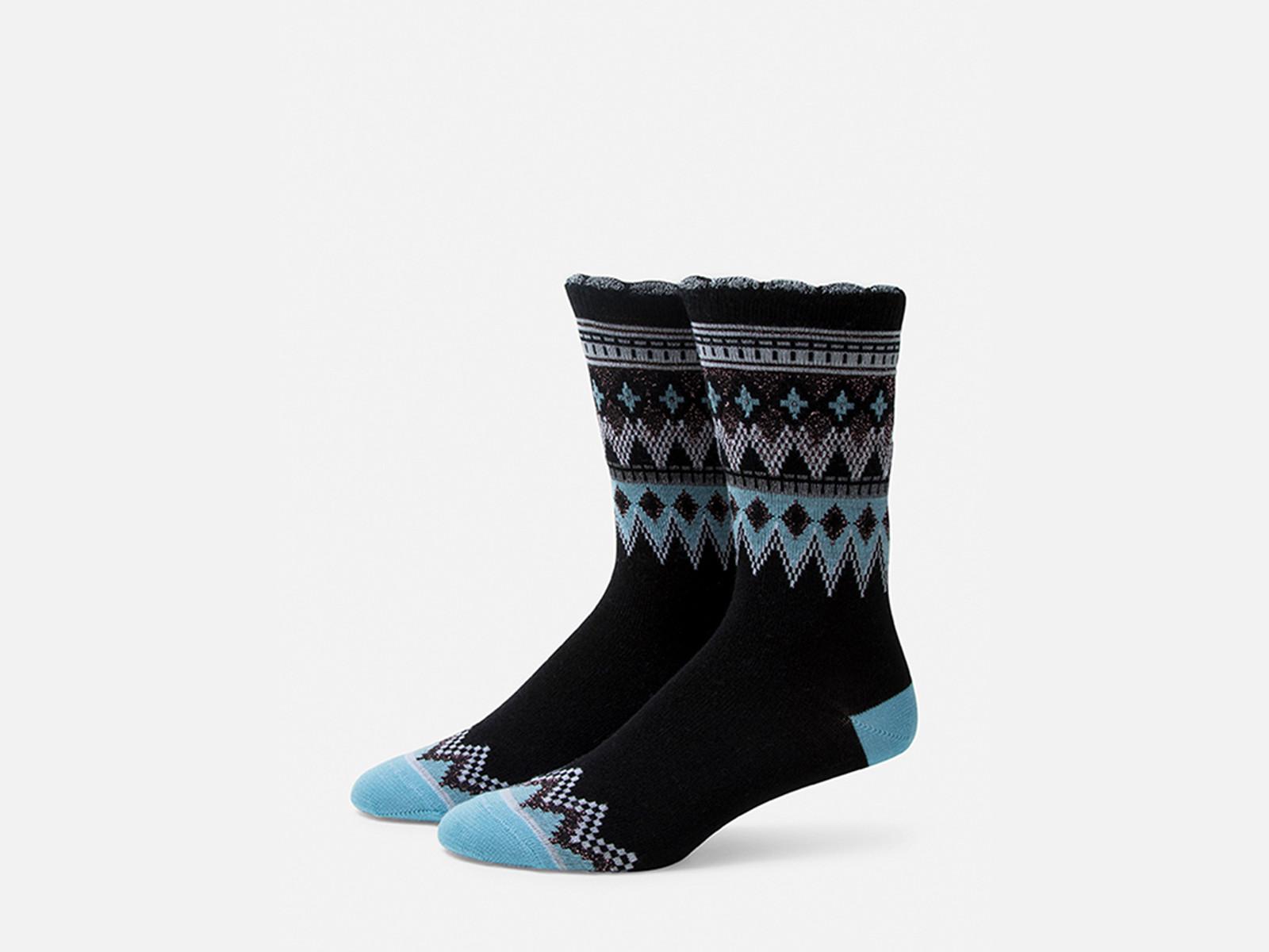 B.ELLA Everleigh Sparkle Fairisle Socks, Ladies' One Size - Black (BE0325-07000)
