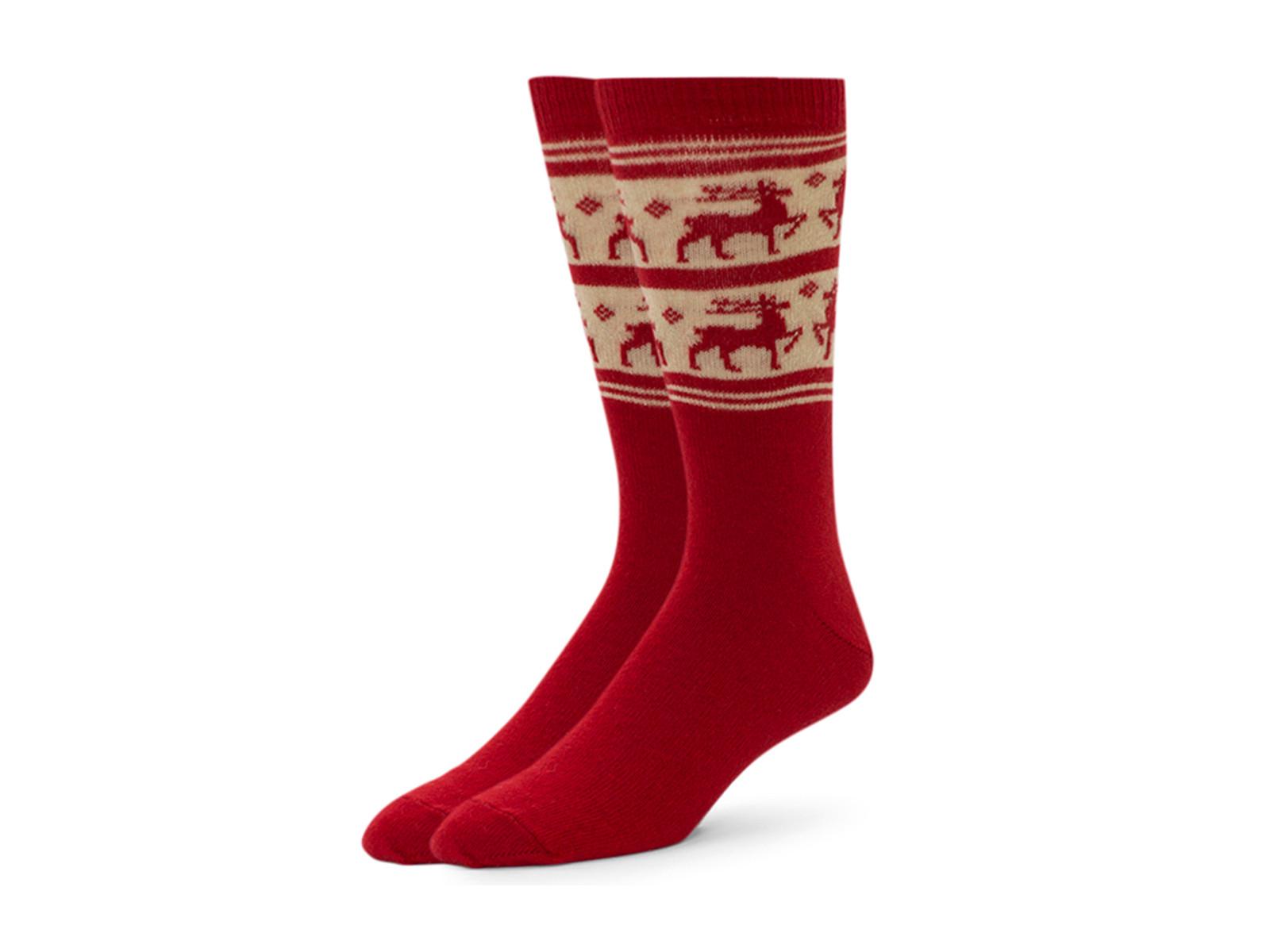 Alchester & Sons Rudolph Reindeer Socks, Men's One Size - Red (AL0678-03000)