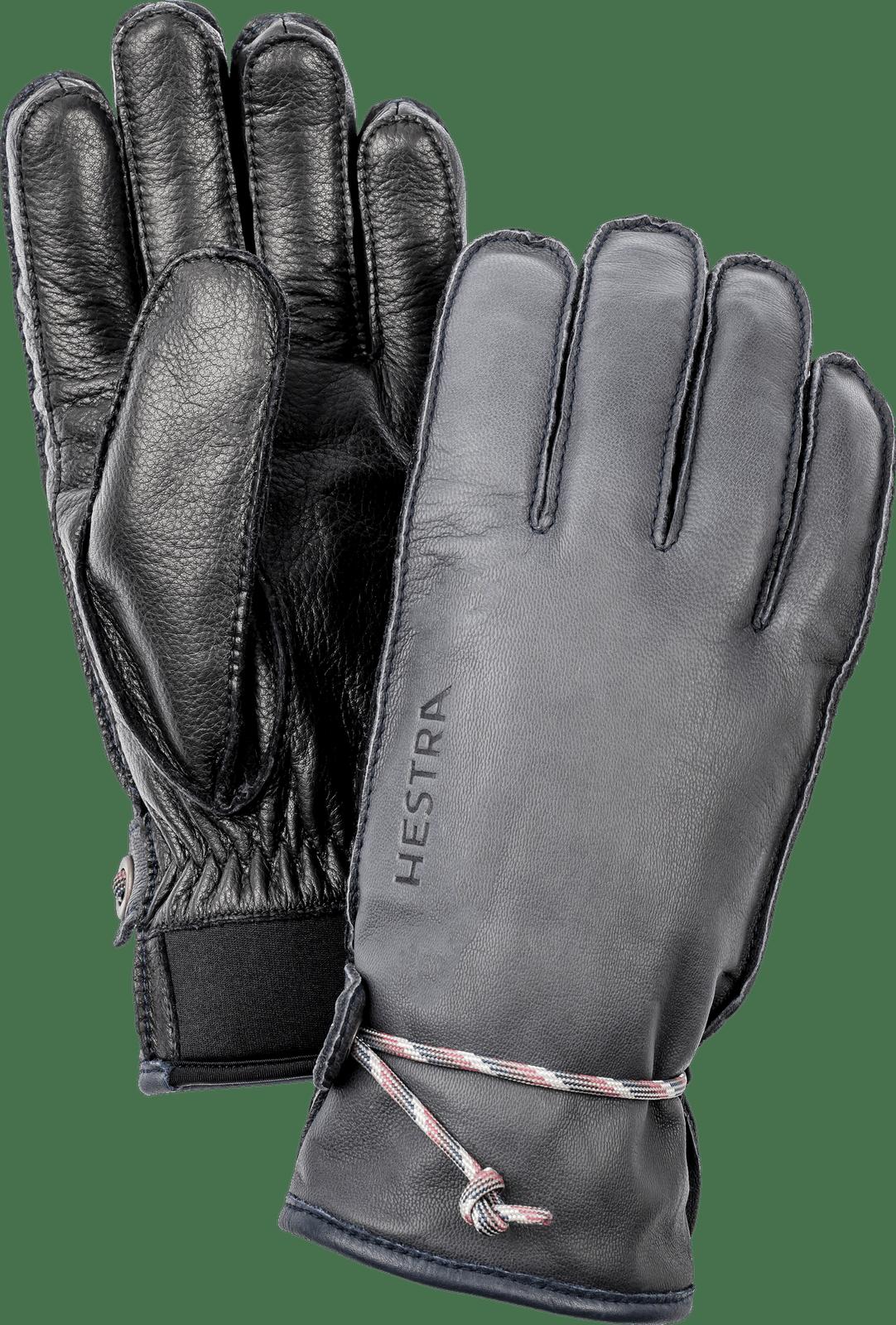 Hestra Wakayama Unisex Gloves, Grey and Black (30720-350100)