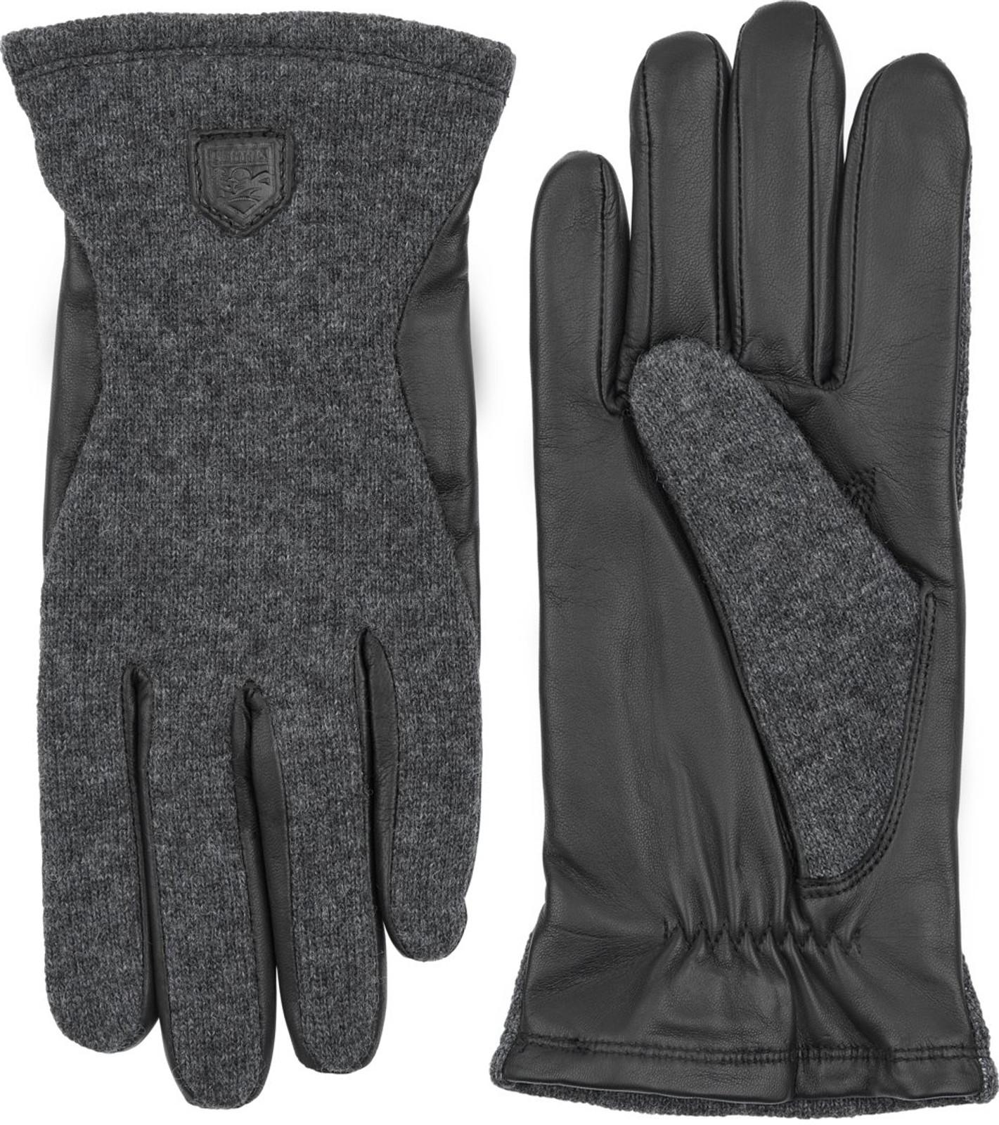 Hestra Hairsheep Wool Tricot Ladies' Gloves, Charcoal/Black