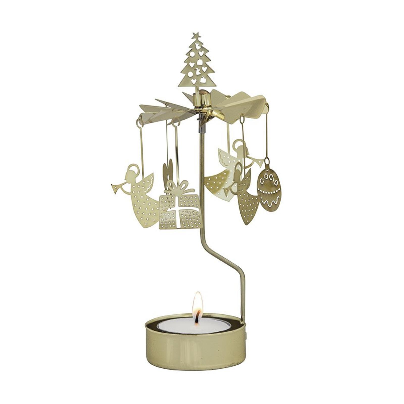 Swedish Votive Spinner - Christmas Medley, Gold (90-AN409G)