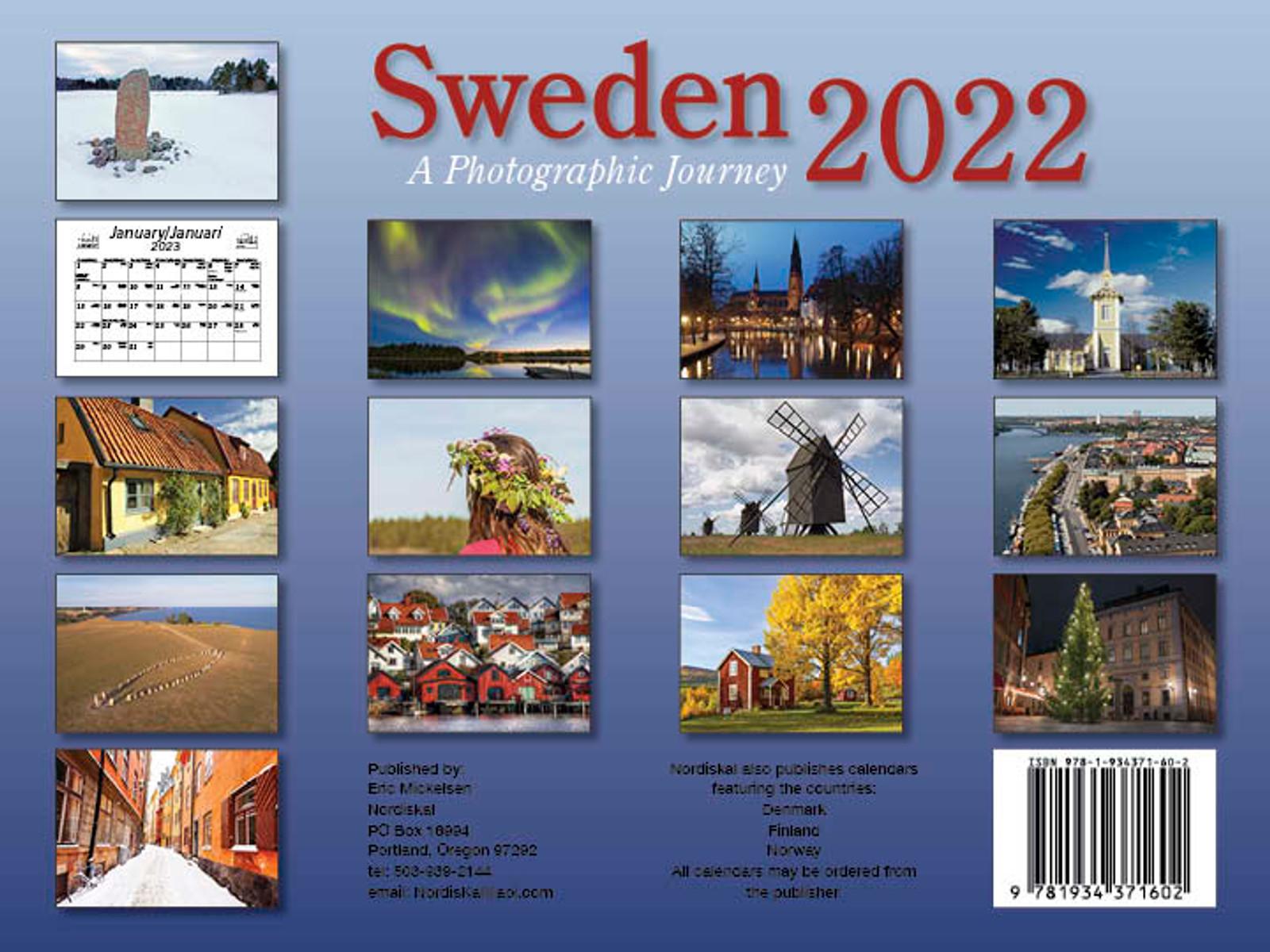 2022 Sweden Calendar in Photographs - Nordiskal