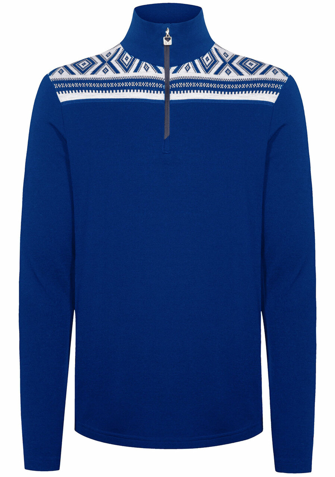 Dale of Norway Cortina Basic Men's Sweater (Base Layer), Ultramarine/Off White, 93531H