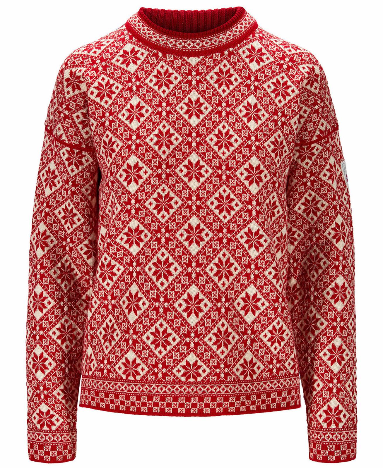 Dale of Norway Bjorøy Sweater, Ladies - Raspberry/Off White/Marine, 94401-B