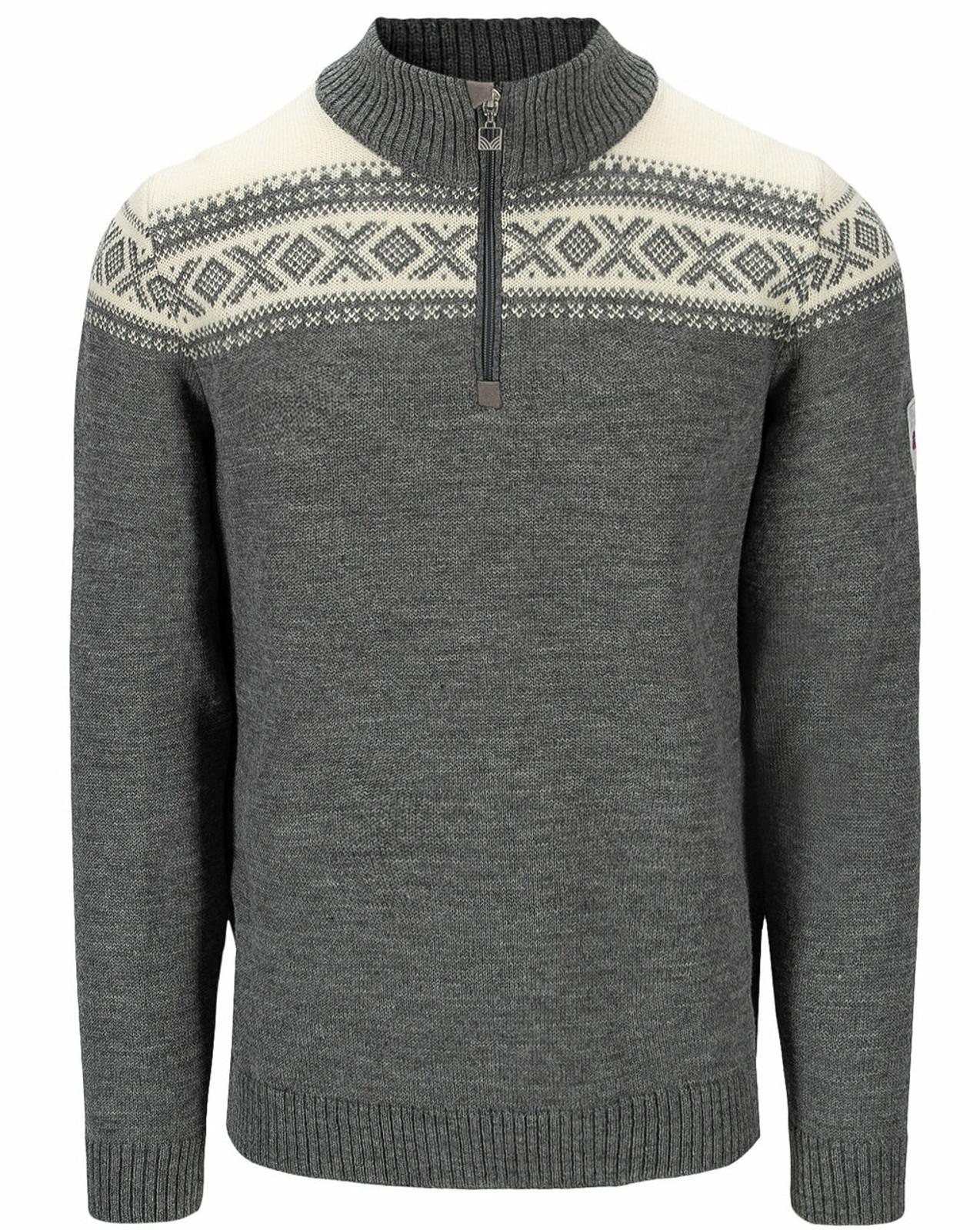 Dale of Norway Cortina Heron Men's Sweater, Smoke/Off White, 94951E