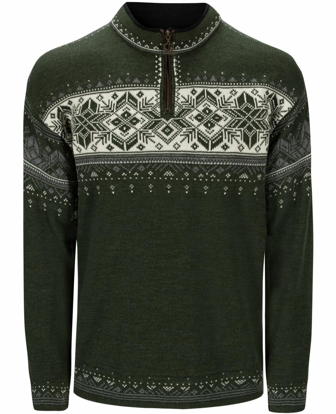 Dale of Norway Blyfjell Unisex Sweater, Dark Green/Smoke/Off White, 95021N