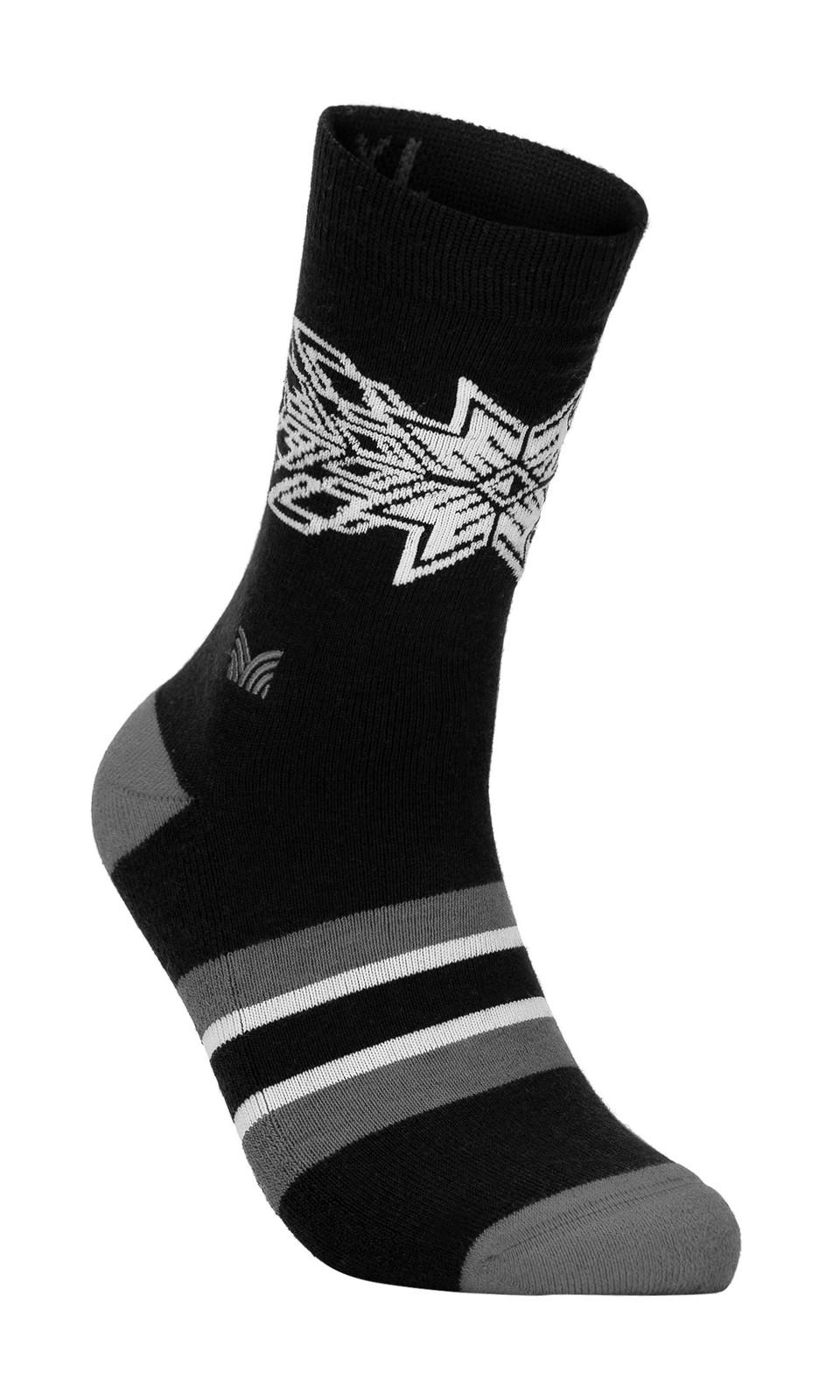 Dale of Norway OL Spirit Sock, Dark Charcoal/Smoke/Off White, 50121EOL Spirit Sock, Dark Charcoal/Smoke/Off White, 50121E