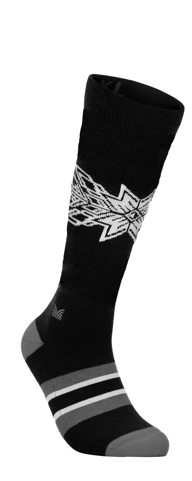 Dale of Norway OL Spirit Sock High, Dark Charcoal/Smoke/Off White, 50131E