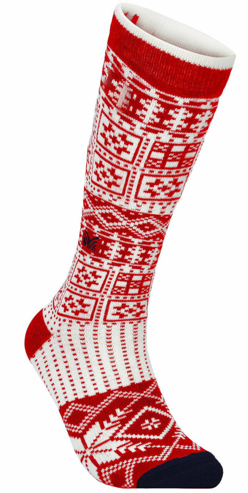 Dale of Norway OL History Sock High, Raspberry/Off White/Navy, 50151B
