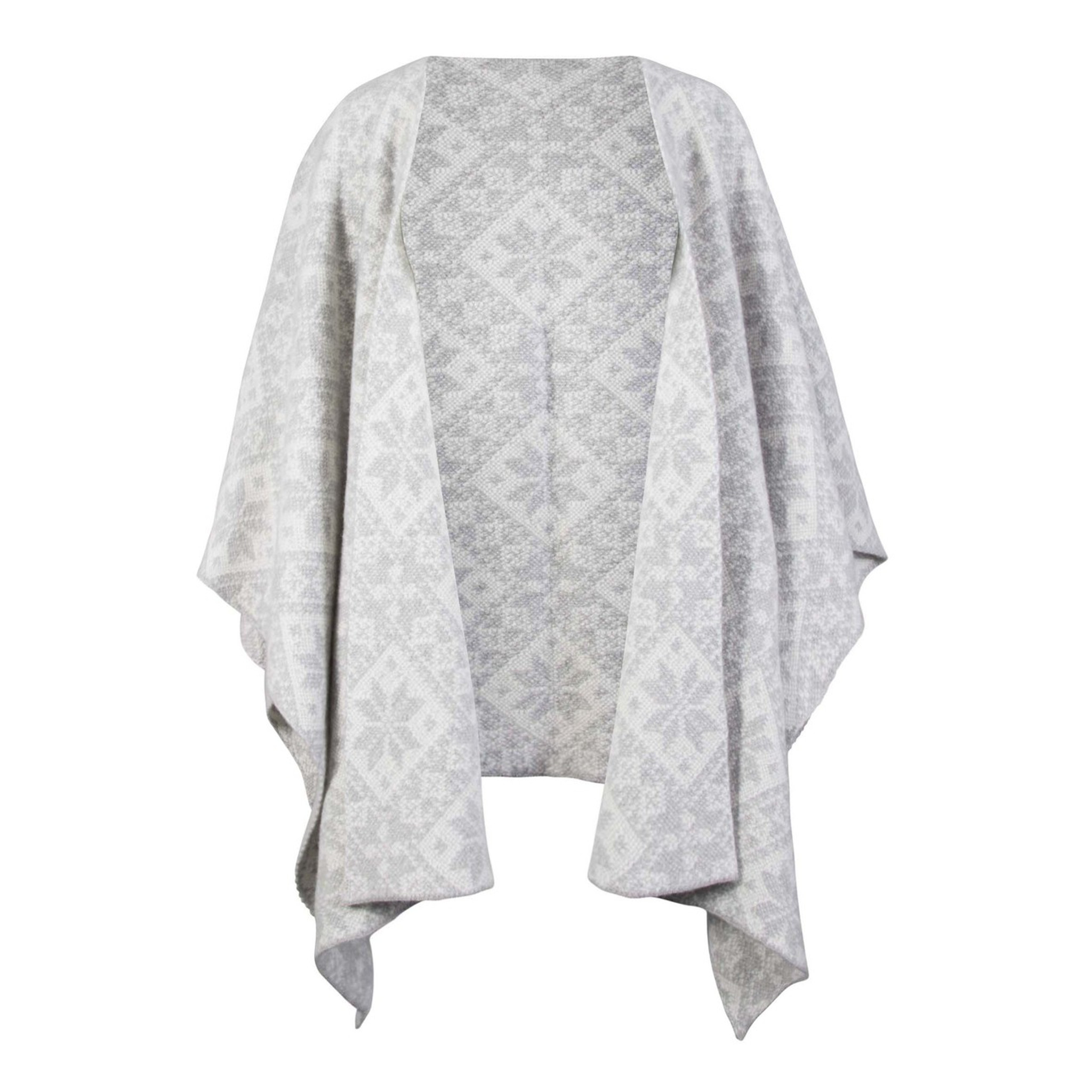 4e57679f4f4dd Dale of Norway Rose Shawl in Light Charcoal