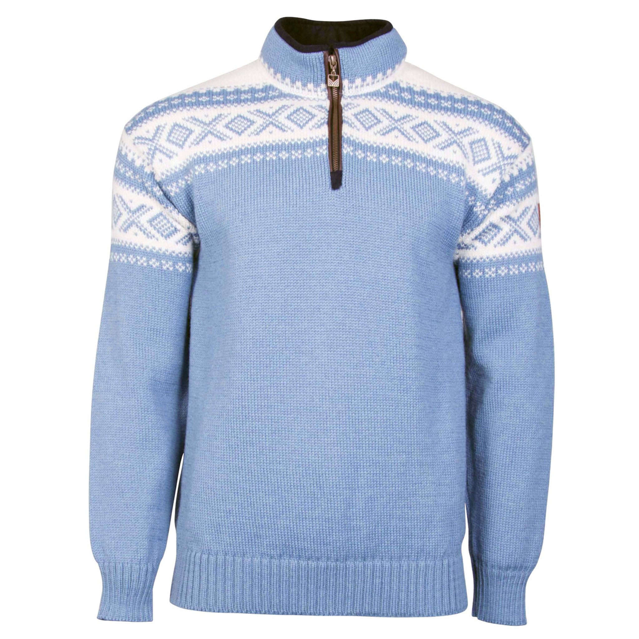 35c6069a Dale of Norway, Cortina Half Zip sweater, Unisex, in Blue Shadow/Off Click  to enlarge