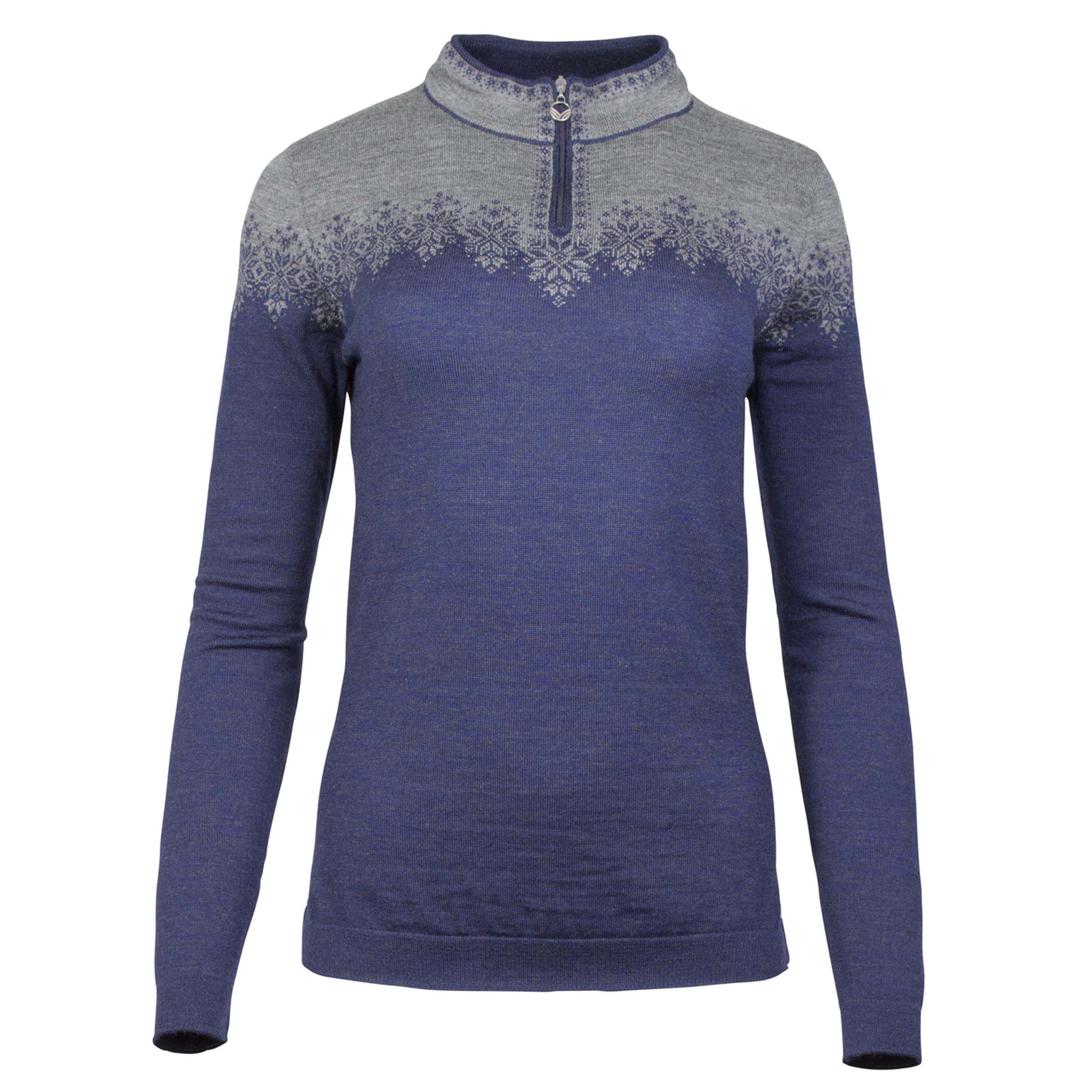 3022770045 Click to enlarge Woman standing in field wearing Dale of Norway s Snefrid  Ladies Sweater in Electric ...