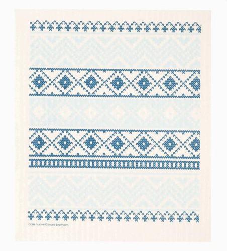 Swedish dish cloth, Blue Knit design
