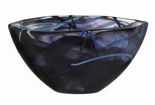 Kosta Boda Contrast Black Bowl- Small
