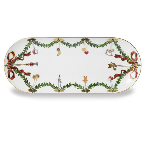 "Royal Copenhagen Star Fluted Christmas 16.5"" Oblong Platter"