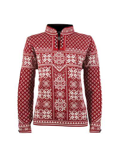 Dale of Norway, ladies Peace sweater in Red Rose/Off White, 13311-B