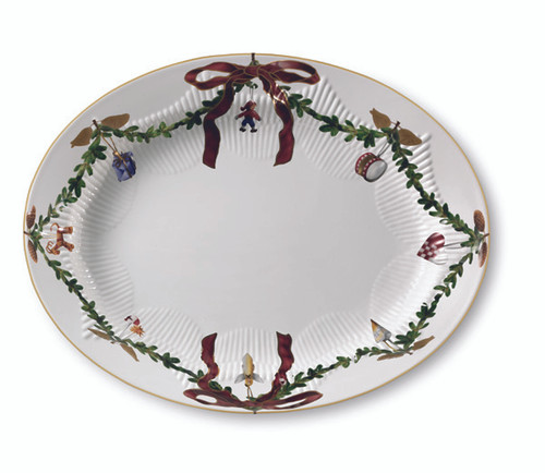 Royal Copenhagen Star Fluted Christmas Oval 14""