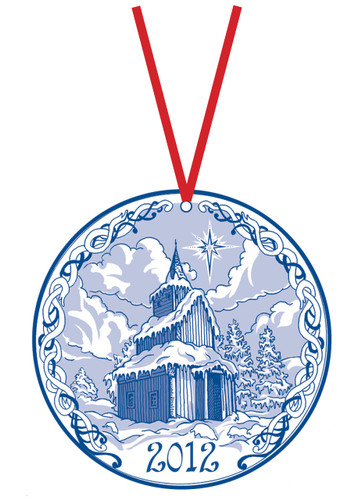 2012 Stav Church Ornament- Torpo. Made by Norse Traditions and available at The Nordic Shop.
