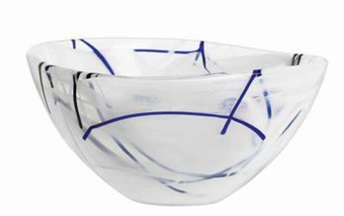 Kosta Boda Contrast Small White Bowl