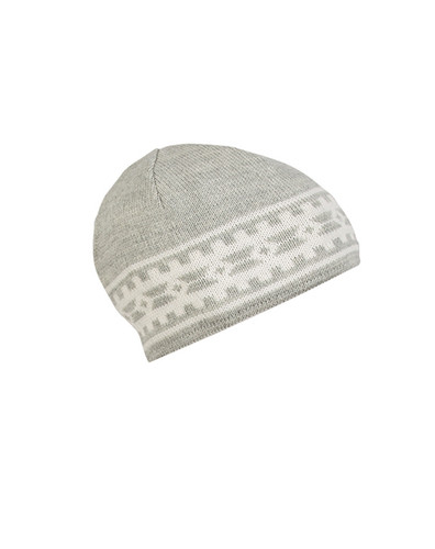 Dale of Norway Alpina Unisex Hat in Light Charcoal/Cream, 45531-E