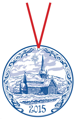 2015 Stav Church Ornament - Vaga. Made by Norse Traditions and available at The Nordic Shop.
