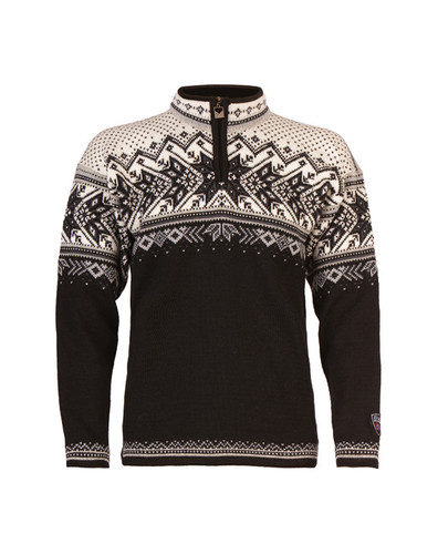 Dale of Norway, Vail sweater, unisex, in Black/Light Charcoal/Smoke/Off White, 90331-F