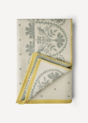 Oleana Baby Blanket with Lacy Pattern, 208F White