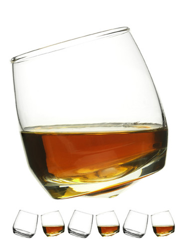 Sagaform's Rocking Whiskey Glasses