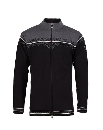 Dale of Norway Nordlys cardigan, mens, in Black/Off White/Schiefer, 81831-J, on sale at The Nordic Shop