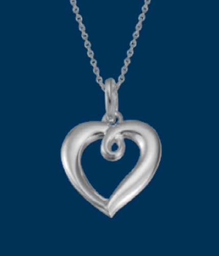 Looped Heart Necklace, Danish Silversmiths